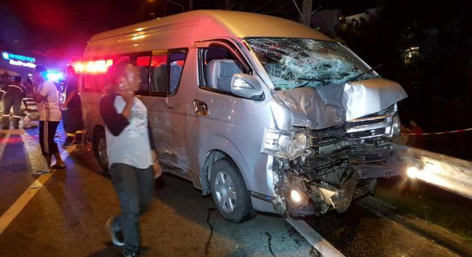 Accident de Patong Hill : six véhicules et deux blessés graves