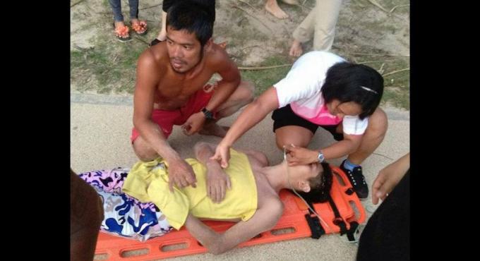 Des touristes chinois sauvés de la noyade