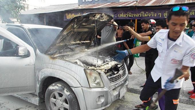 Tous sains et saufs après l'incendie de leur pickup