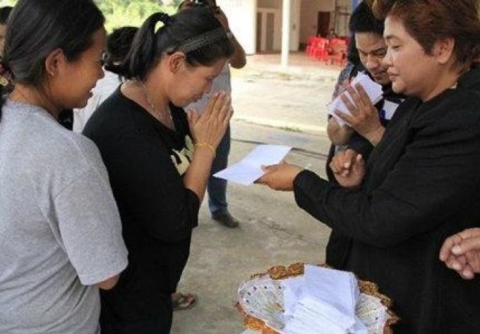 Des billets de loterie donnés aux invités funéraires