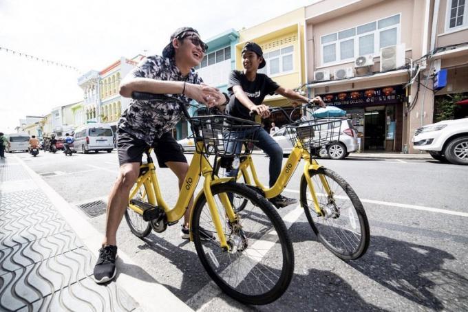 Les vélos 'Ofo' disponibles a Phuket Town