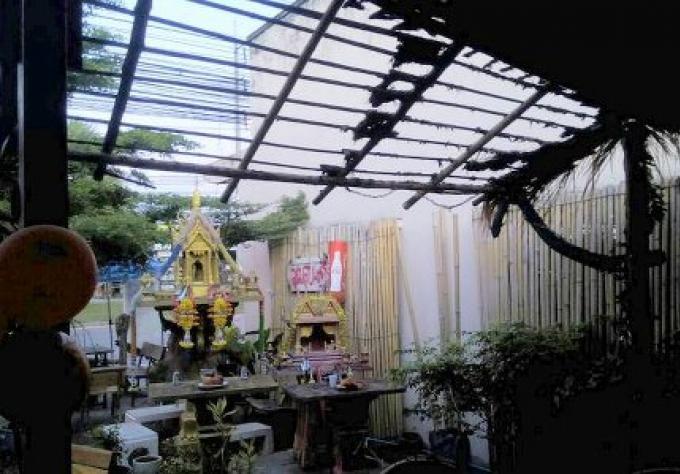 Restaurant de Phuket brulé