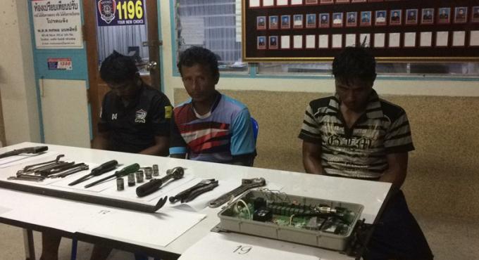 Trois birmans arrêtés pour le vol d'équipement de pêche