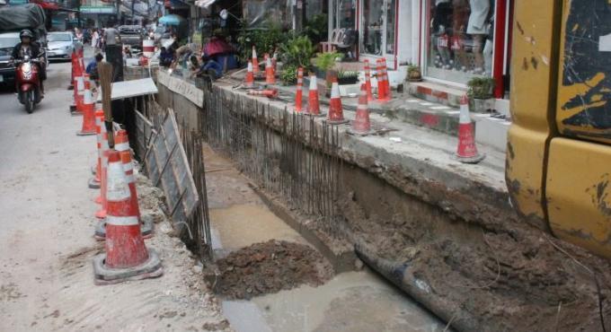Les nouveaux égouts de Patong terminés dans une semaine