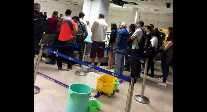 Nouvelle fuite l'aéroport : une erreur pendant les travaux