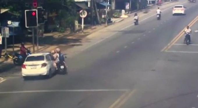 Un allemand hospitalisé après un accident de scooter