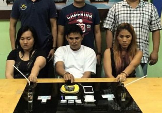 Trois personnes arrêtées à Patong, pour possession de drogue