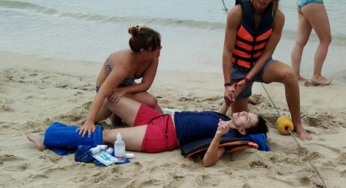 Une touriste australienne se brise la jambe dans une collision de jet-ski à Patong