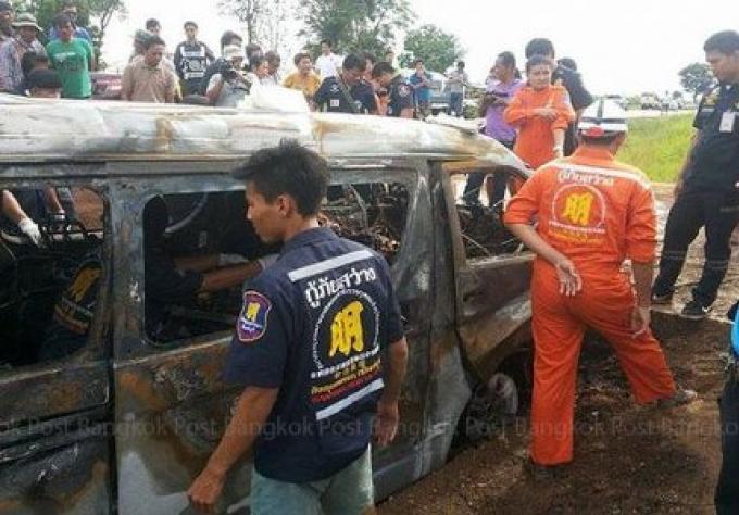 Quatre morts dans l'explosion d'un Van au GPL, après un voyage aux casinos cambodgiens