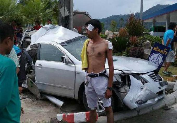 Les automobilistes échappent à des blessures graves dans un accident de réaction en chaîne