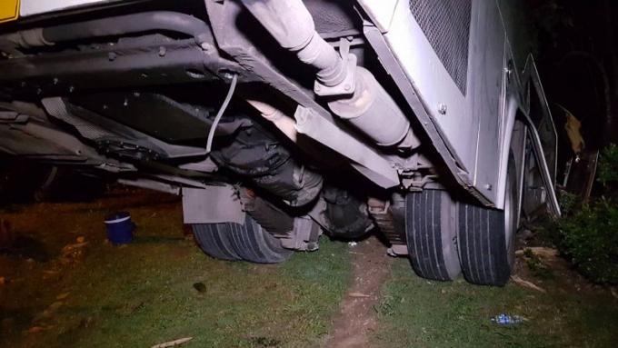 Car dans le fossé, 'les freins ont lâché'