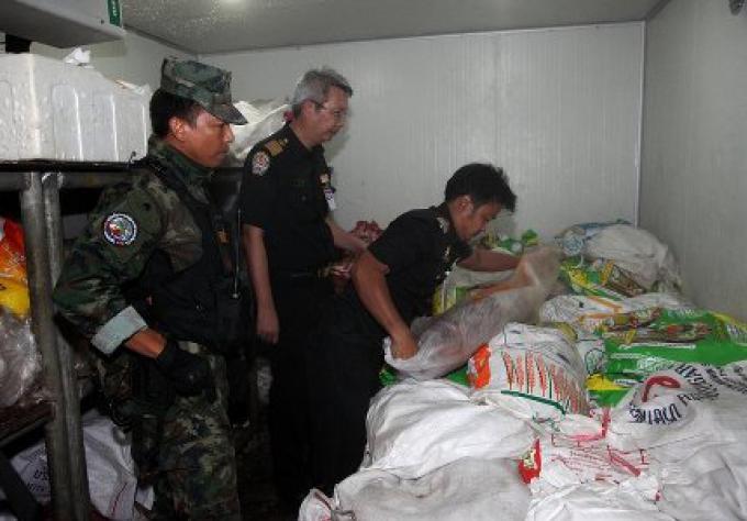 Deux tonnes de viande ont été saisies à Phuket d'un passeur de boeuf lors d'un RAID
