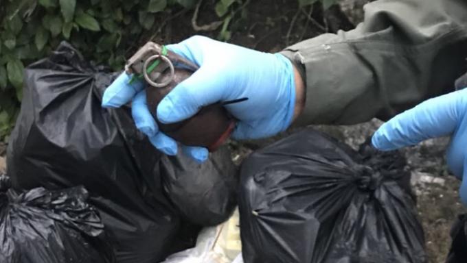Une grenade retrouvée dans une poubelle