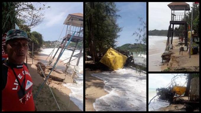 L'effondrement des sauveteurs de Phuket
