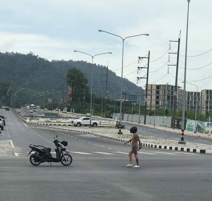 Arrêté ivre au carrefour de Samkong