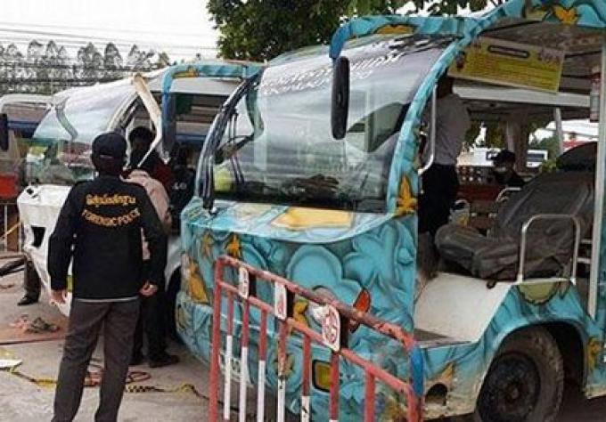 Cable d'accélérateur rouillé trouvé dans Khon Kaen zoo