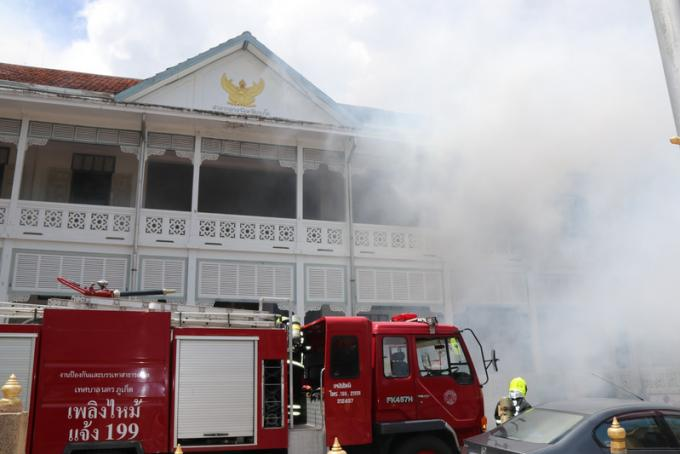 Exercice incendie au Provincial Hall