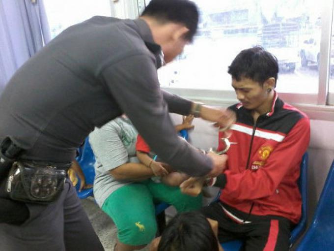 Un homme recherché pour viol abusif a été arrêté après avoir défoncé le visage de son beau-p