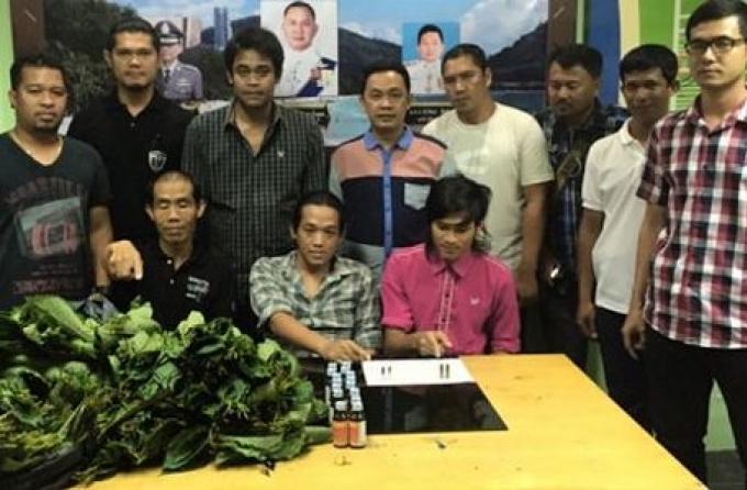 Trois personnes arrêtés à Phuket dans la lutte anti-drogue et de la campagne contre la criminalit
