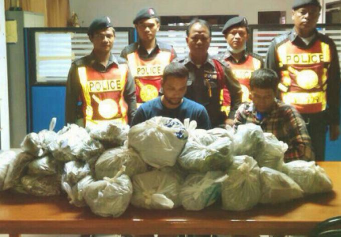 La police de Phuket a arrêté des hommes de Ranong délivrant des feuilles de kratom