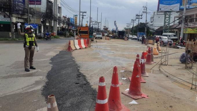 Ouverture d'une nouvelle voie de circulation au Chalong Circle