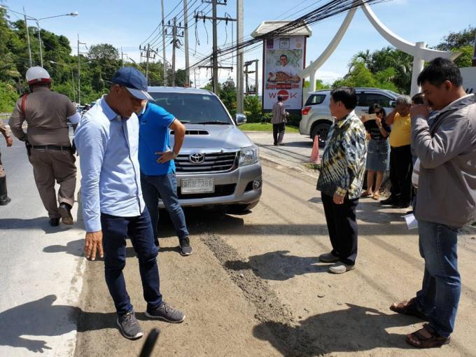 Les officiels préviennent les automobilistes des travaux sur Patak Road