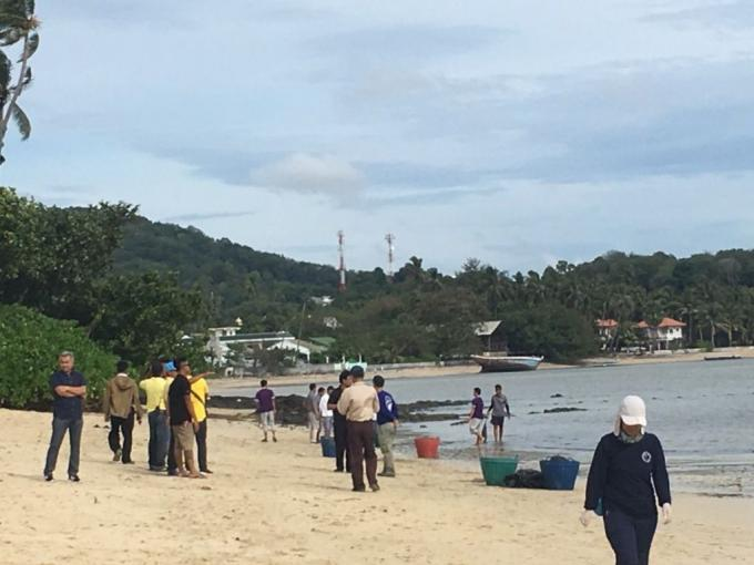 La plage retrouve son état naturel après la 'marée noire'