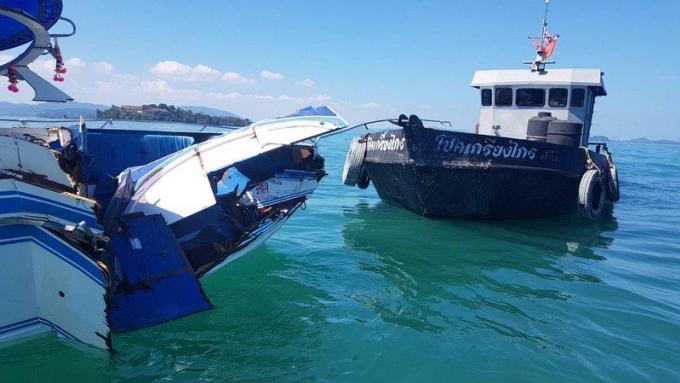 Des touristes chinois blessés dans la collision entre leur speedboat et un pétrolier