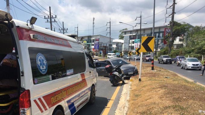 Quatre blessés dans une collision entre une voiture et un pylône