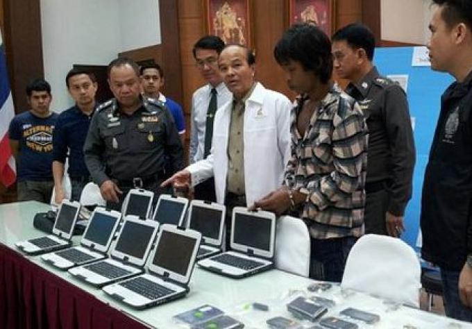 Le voleur de tablettes de l'école de Satree arrêté