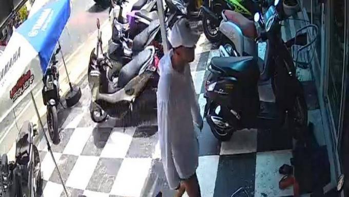 Récompense pour retrouver un 'faux ukrainien' qui a volé une moto de location à B450,000