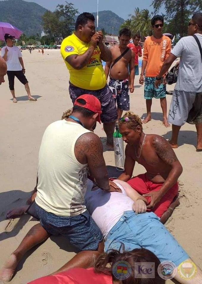 Un touriste indien sauvé d'une noyade certaine à Patong Beach