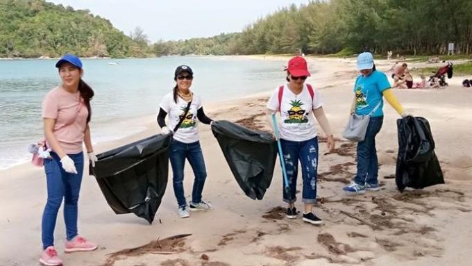 Le nettoyage de Layan Beach ramasse 92 kilos de déchets