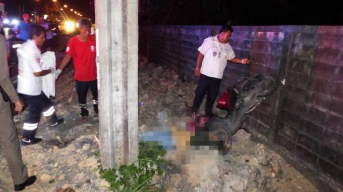 Un soldat meurt à Thalang en percutant un pylône en scooter