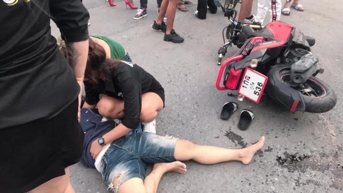 La Police de Patong appelle au calme après la colère d'un étranger suite à un accident de scoo