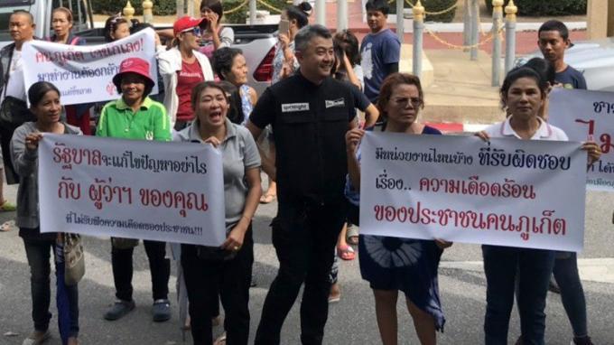 Les habitants de Phuket furieux après le gouverneur pour la pénurie d'eau