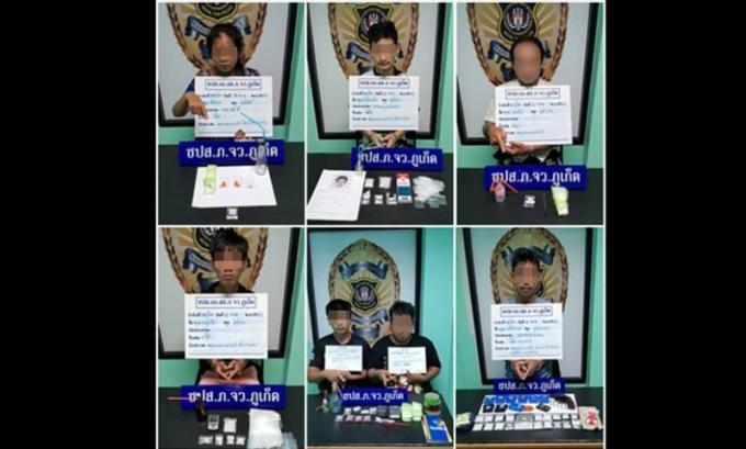 Sept personnes arrêtées en possession de drogues et d'armes
