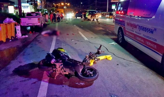 Un motocycliste allemand meurt dans un accident à Patong Hill