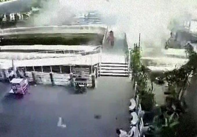 Une grenade lancé d'un pont de Bangkok n'a blessé personne