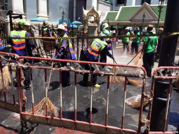 La Thaïlande veut trouver des coupables aux bombes