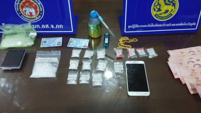 Deux suspects arrêtés dans des hôtels de Patong et Phuket Town en possession de drogues
