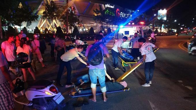 Trois blessés dans un accident de scooter à Phuket Town