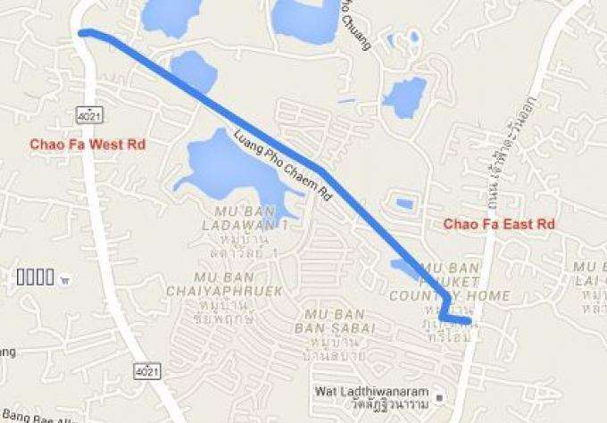 Routes secondaires pour alléger charge de trafic du futur passage souterrain de Chalong