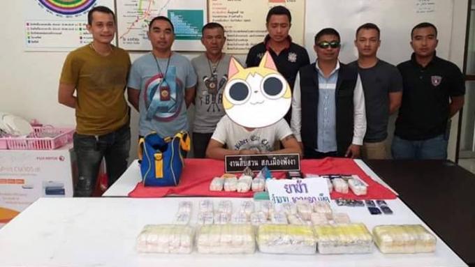 Un homme arrêté avec 100,000 cachets de methamphétamine à Phang Nga