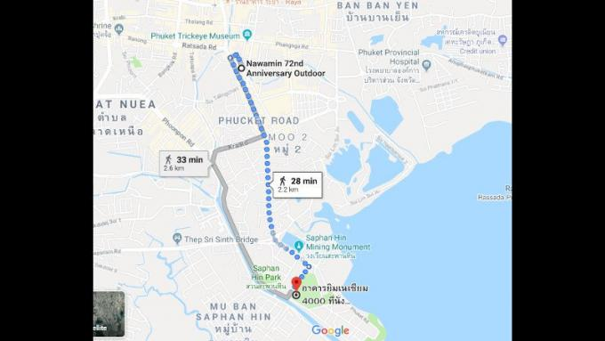 La principale route de Phuket Town fermée à l'occasion du carnaval des sports