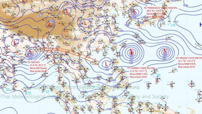 Le TMD publie un bulletin d'alerte météo pour Phuket et les côtes de l'Andaman