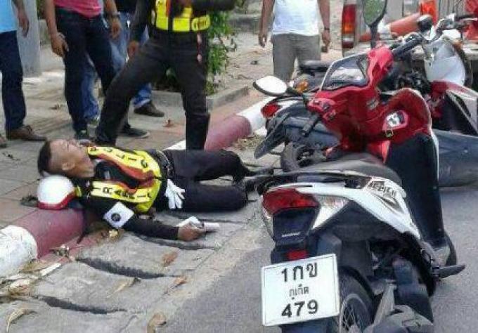 Un Touriste chinois renverse un agent agent de la circulation de Phuket