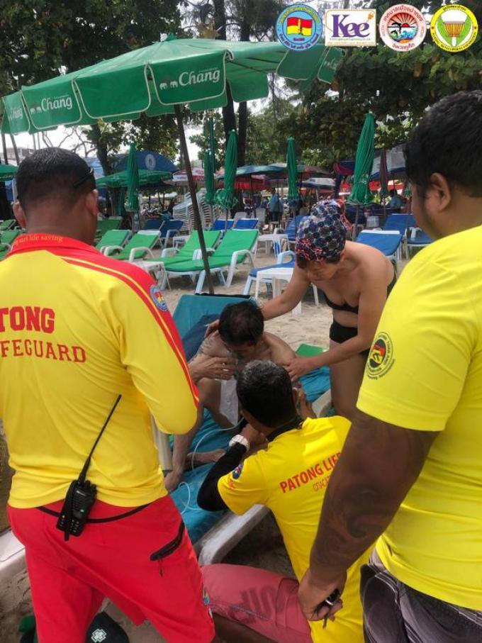 Un touriste chinois secouru par les sauveteurs de Patong