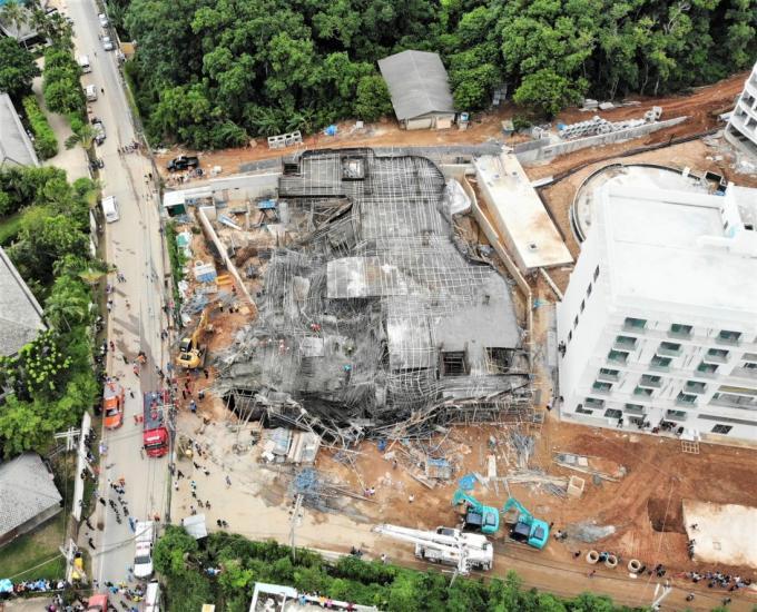 3 birmans retrouvé morts dans les décombres du VIP Condo en construction à Rawai
