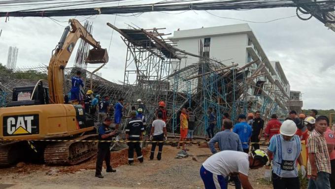La construction effondrée de Rawai déclarée 'zone dangereuse'
